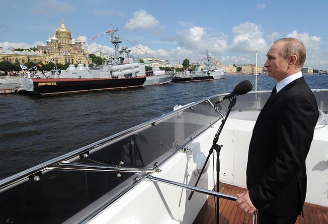 ẢNH+VIDEO: Hoành tráng lễ kỷ niệm Ngày Hải quân Nga - Ảnh 3.