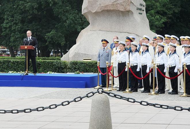 ẢNH+VIDEO: Hoành tráng lễ kỷ niệm Ngày Hải quân Nga - Ảnh 6.
