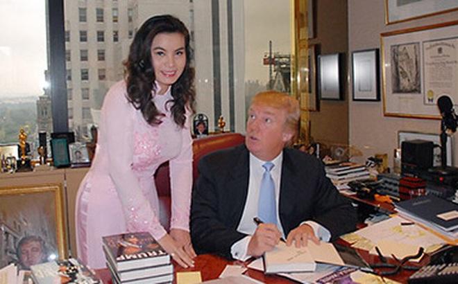 Đây là HH Việt duy nhất được Tân Tổng thống Mỹ tặng sách, khen mặc áo dài đẹp!