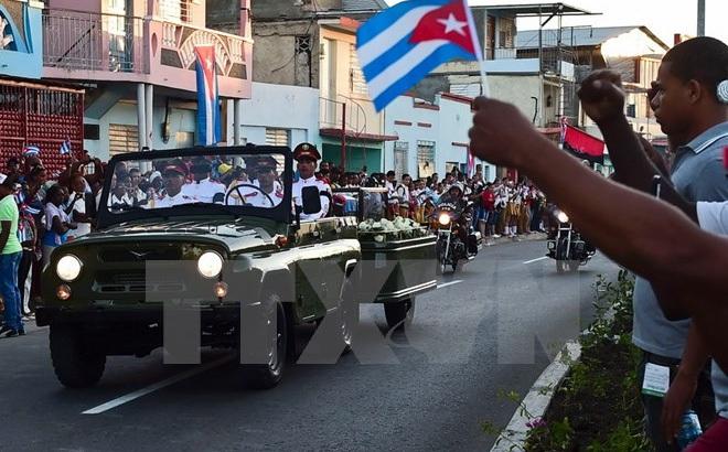 Hình ảnh lễ an táng tro cốt của lãnh tụ Cuba Fidel Castro Ruz