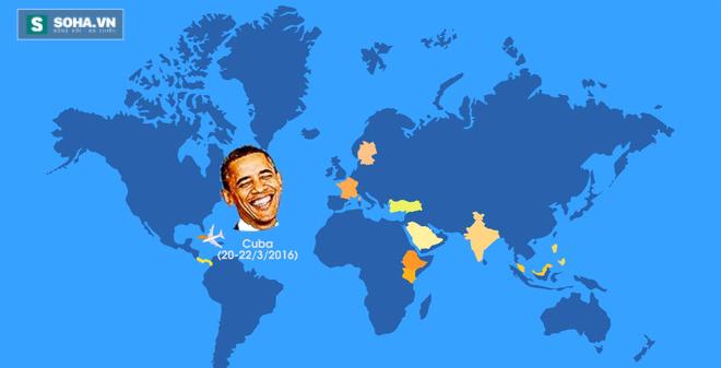 [ĐỒ HỌA] Những chuyến công du nước ngoài của Tổng thống Obama