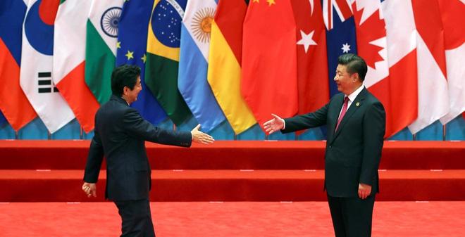 """G20: Bắc Kinh """"cấm"""" Shinzo Abe đề cập biển Đông với Tập Cận Bình"""