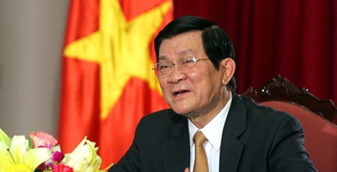 Quốc hội đồng ý miễn nhiệm Chủ tịch nước Trương Tấn Sang