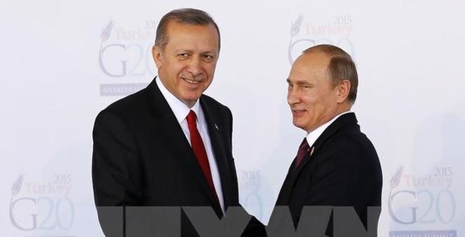 Tổng thống Thổ Nhĩ Kỳ đã đến Nga để hội đàm với Tổng thống Putin