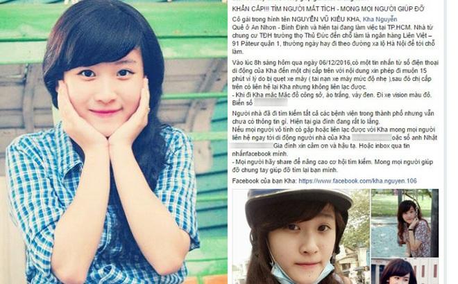 Nghi vấn nữ nhân viên ngân hàng mất tích tại TP HCM xuất hiện tại Vũng Tàu