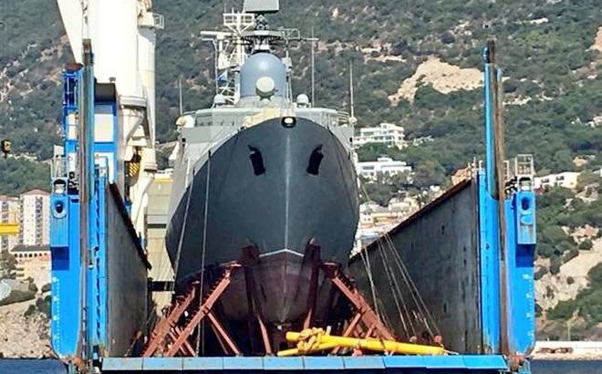 Tàu hộ vệ tên lửa Gepard mới nhất của Hải quân Việt Nam đã về đến quân cảng Cam Ranh