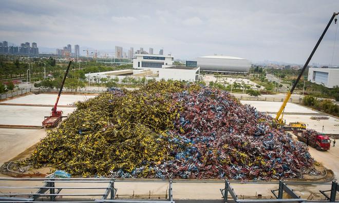 7 ngày qua ảnh: Xe đạp rác chất thành đống cao như núi ở Trung Quốc - Ảnh 3.