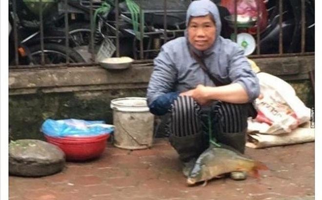 Chị hàng cá chia sẻ về bức ảnh buộc dây vào cá mang bán rong ở vỉa hè Hà Nội