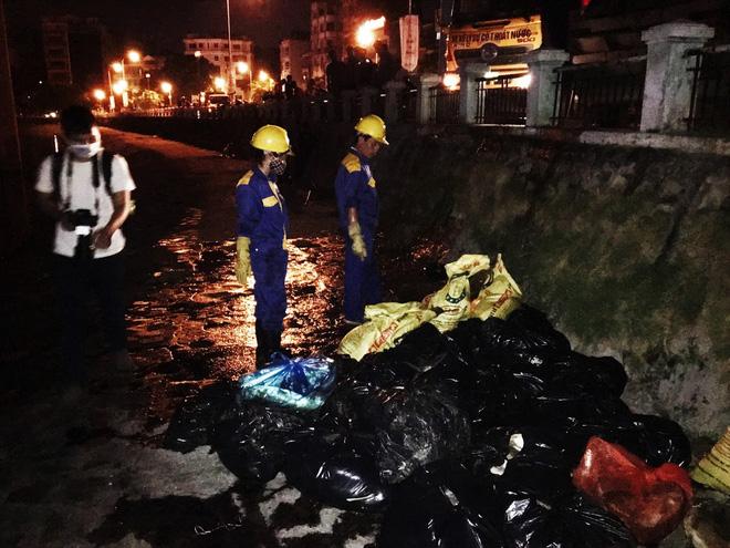 Trắng đêm thu dọn cá chết tại hồ Hoàng Cầu, Hà Nội - Ảnh 4.