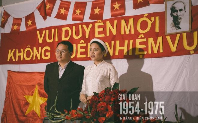 Bộ ảnh 100 năm đám cưới Việt Nam khiến người xem vừa lạ vừa quen