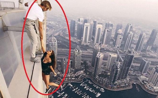 Thách thức tử thần từ nóc nhà cao hơn 300m, người mẫu Nga nhận được điều không mong đợi