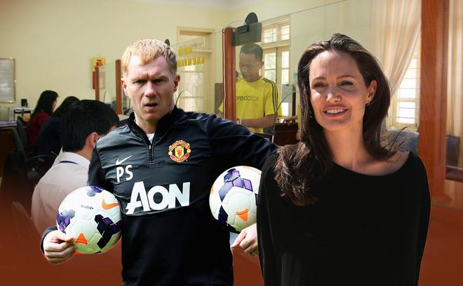 Jolie đơ má, nhân viên hành chính liệt cơ mặt và cơ hàm cứng của Paul Scholes