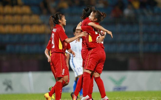 """Vượt Thái Lan bằng """"mưa bàn thắng"""", ĐT nữ Việt Nam xuất sắc giành HCV SEA Games 29"""