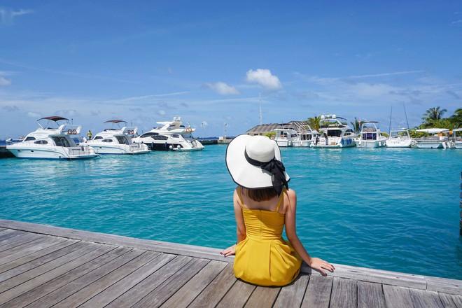 """Hường Chuối – Hotmom 9x cùng bạn trai giấu mặt ngao du """"Thiên đường Maldives"""" hết 85 triệu - Ảnh 20."""