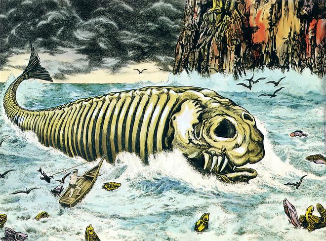 Bí ẩn lời nguyền đáng sợ của quái vật biển Bakekujira: Kẻ khổng lồ trở về từ cõi chết - Ảnh 1.