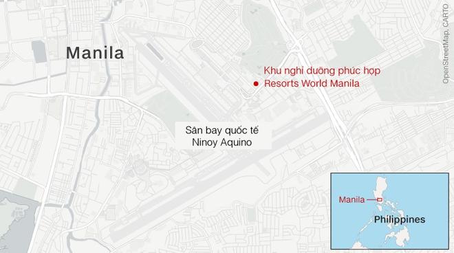 Cướp casino, nổ súng ở Philippines: Ít nhất 36 thi thể chết ngạt tại hiện trường - Ảnh 1.