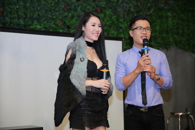 Quế Vân mặc gợi cảm trong buổi ra mắt sản phẩm mới - Ảnh 10.