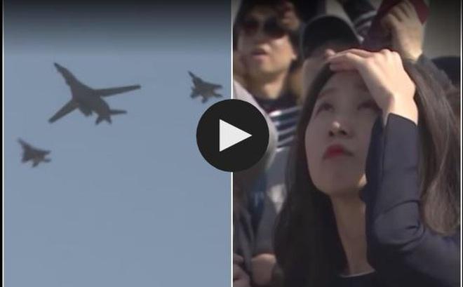 Dân Hàn hào hứng xem máy bay ném bom Mỹ trình diễn ở Seoul