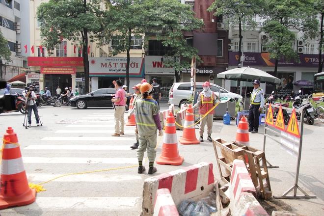 Hà Nội bắt đầu chặt hạ, di dời 130 cây xanh cổ thụ trên đường Kim Mã - Ảnh 2.