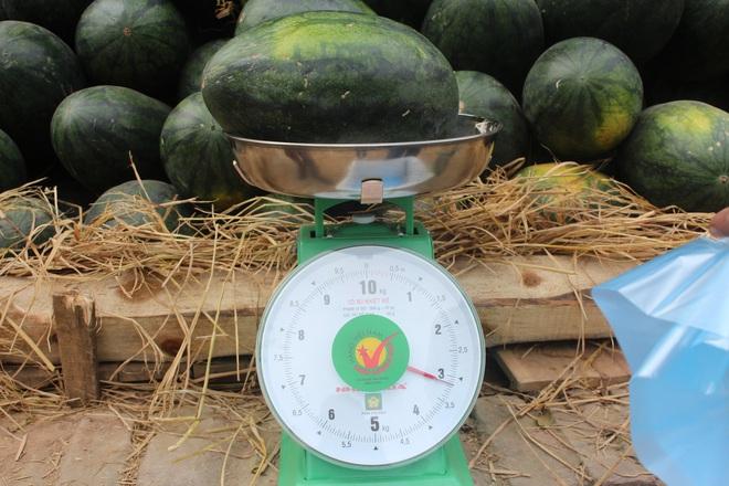 Dưa hấu miền Nam mất giá, đổ bộ ra Hà Nội bán chỉ 6.000 đồng/kg - Ảnh 1.