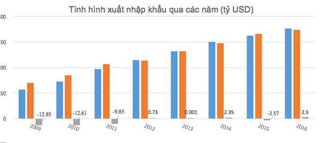 Việt Nam xuất siêu 2,5 tỷ USD trong năm 2016 - Ảnh 1.