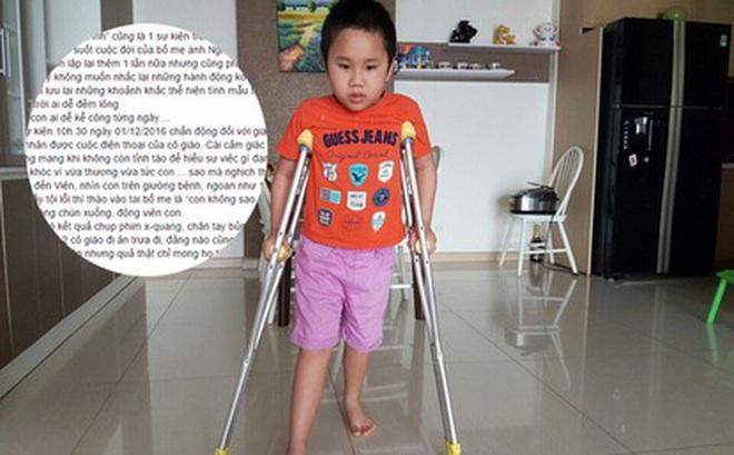 """Tâm sự đắng chát của người mẹ có con bị xe đâm gãy chân ở trường: """"Từng nghĩ tất cả là do con nghịch quá!"""""""
