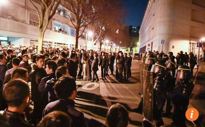 Biểu tình bạo lực sau khi cảnh sát Pháp bắn chết người gốc Hoa