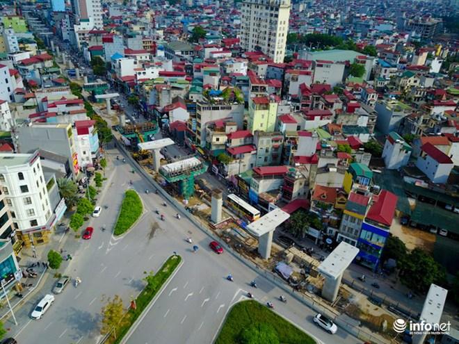 Toàn cảnh tuyến đường sắt Metro Nhổn-Ga Hà Nội đang thi công - Ảnh 2.