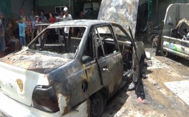Bạc Liêu: Xe ô tô phát cháy trong lúc sửa chữa