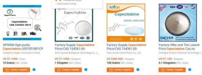 """Kịch bản đáng sợ: Thuốc ung thư """"Em H-Capita"""", """"Anh H-Capita"""" lên Alibaba.com là có, 22.000 đồng! - Ảnh 5."""
