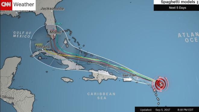 Sau Harvey, Irma là siêu bão quái vật sắp tấn công nước Mỹ, tạo sóng cao 3m - Ảnh 2.