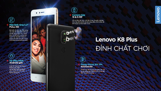 Lenovo chính thức trình làng smartphone K8 Plus tại Việt Nam: Camera kép, pin 4.000 mAh, giá 5,49 triệu đồng - Ảnh 2.