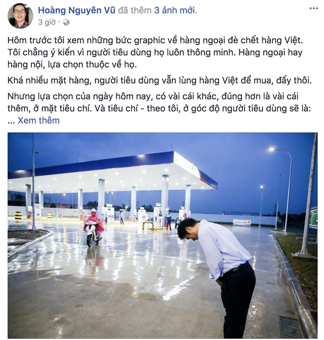 Dân mạng Việt nói gì về bức ảnh ông chủ người Nhật đội mưa cúi đầu chào khách? - Ảnh 1.