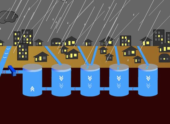 Giải mật cống ngầm lớn nhất thế giới ở Nhật, siêu bão mưa 3 ngày liền cũng không ngập - Ảnh 4.