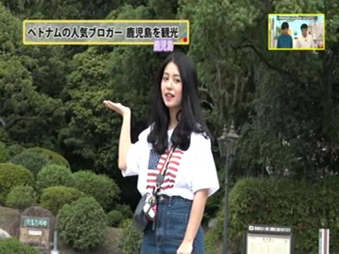 Mẫn Tiên xuất hiện xinh đẹp và gây chú ý trên đài truyền hình của Nhật Bản - Ảnh 1.