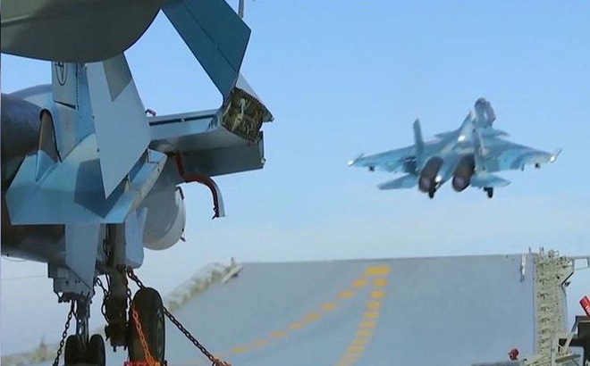 Tiêm kích Su-33 và MIG-29K lần đầu tham chiến ở Syria