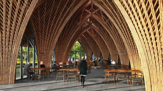Nhà hàng tre của kiến trúc sư Việt đang xây dở đã lên tạp chí danh tiếng - Ảnh 3.
