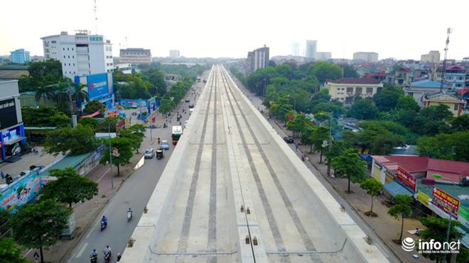 Toàn cảnh tuyến đường sắt Metro Nhổn-Ga Hà Nội đang thi công - Ảnh 11.