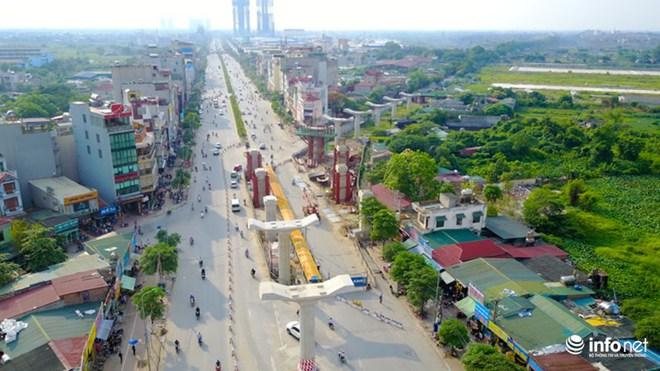 Toàn cảnh tuyến đường sắt Metro Nhổn-Ga Hà Nội đang thi công - Ảnh 3.