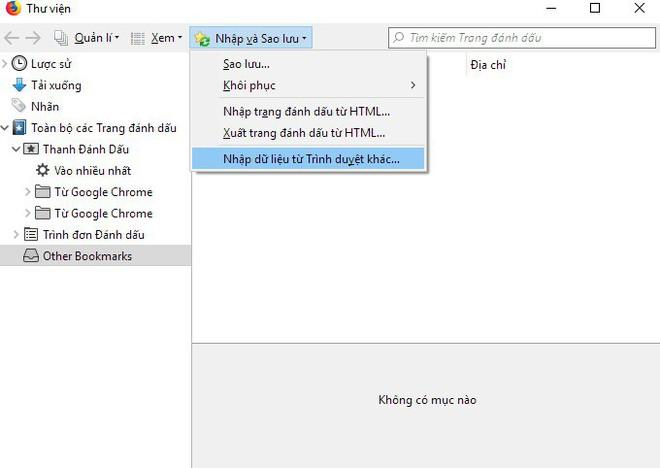 Cách chuyển tất cả dữ liệu từ Chrome sang Firefox - Ảnh 2.