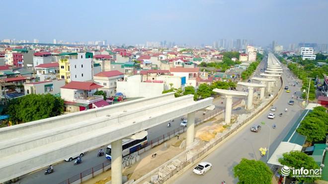 Toàn cảnh tuyến đường sắt Metro Nhổn-Ga Hà Nội đang thi công - Ảnh 4.