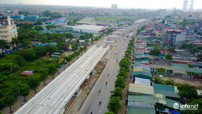 Toàn cảnh tuyến đường sắt Metro Nhổn-Ga Hà Nội đang thi công - Ảnh 5.