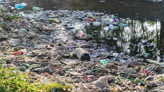 Bãi rác ngập dưới chân cầu Thăng Long - Ảnh 6.