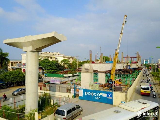 Toàn cảnh tuyến đường sắt Metro Nhổn-Ga Hà Nội đang thi công - Ảnh 6.