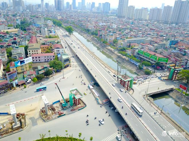 Toàn cảnh tuyến đường sắt Metro Nhổn-Ga Hà Nội đang thi công - Ảnh 7.