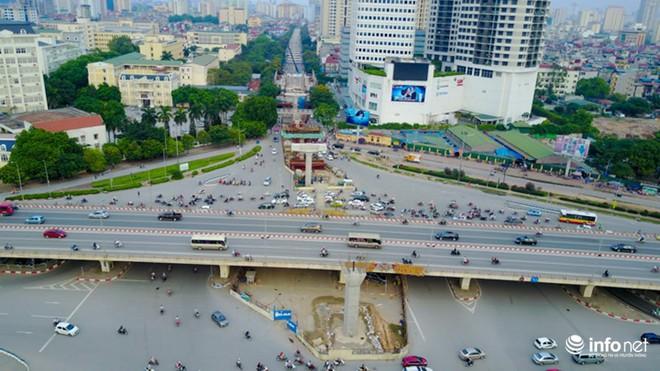 Toàn cảnh tuyến đường sắt Metro Nhổn-Ga Hà Nội đang thi công - Ảnh 8.