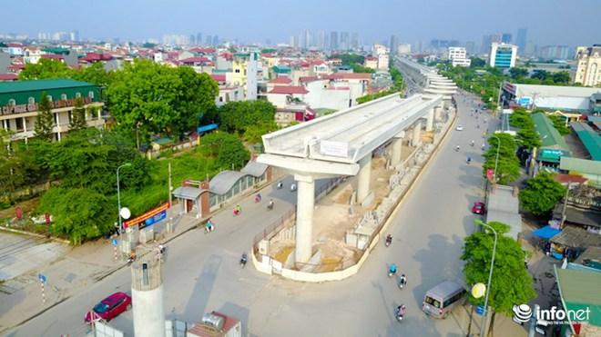 Toàn cảnh tuyến đường sắt Metro Nhổn-Ga Hà Nội đang thi công - Ảnh 9.