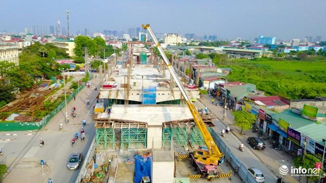 Toàn cảnh tuyến đường sắt Metro Nhổn-Ga Hà Nội đang thi công - Ảnh 10.