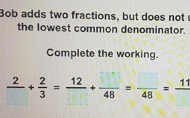 Bài toán dành cho trẻ lớp 7, nhưng khiến 60% người lớn bó tay! Bạn có làm được không?
