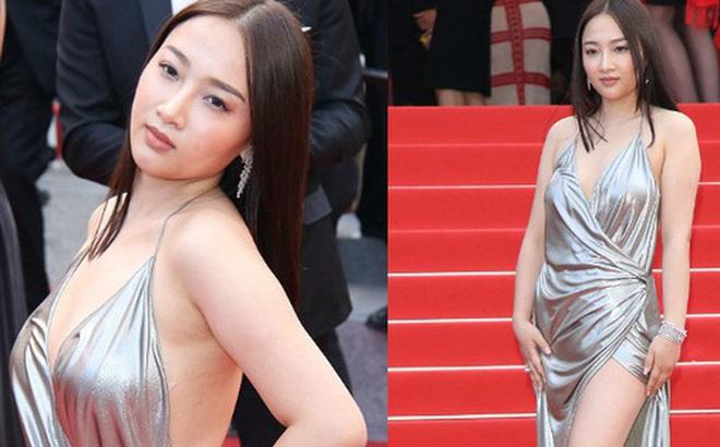 """Người đẹp vô danh Cbiz tiếp tục """"bon chen"""" thảm đỏ Cannes, tự biến mình thành """"Bella phiên bản lỗi"""""""